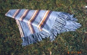 alpaca blanket dyed