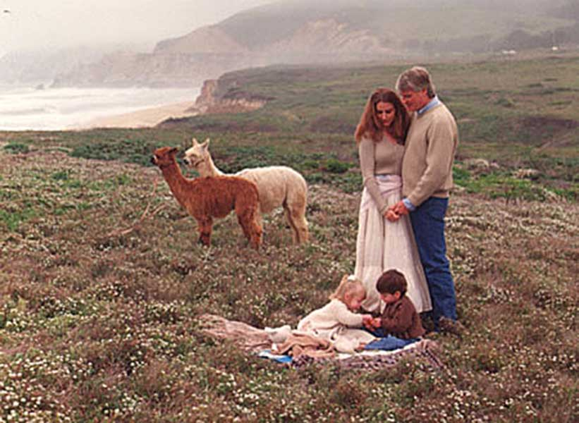Hibbits Family With Alpacas