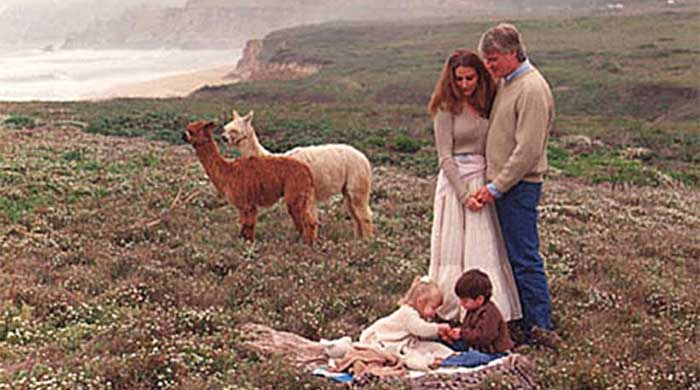 Hibbits Family with Alpacas